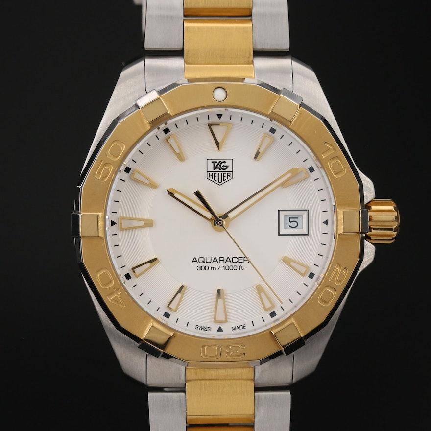 TAG Heuer Aquaracer Two-Tone Stainless Steel Quartz Wristwatch