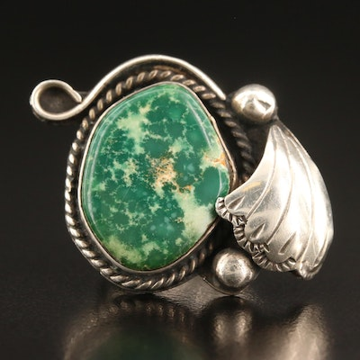 Southwestern Style Sterling Silver Chrysocolla Ring
