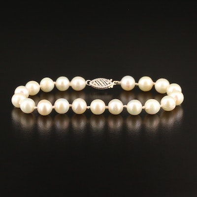 Pearl Bracelet with 14K Clasp
