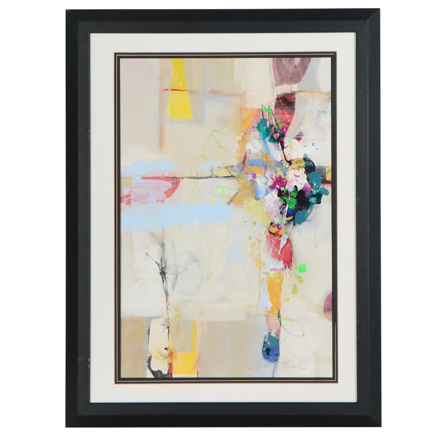 """Mark Whitmarsh Abstract Acrylic Painting """"Flower Poetry,"""" 2020"""