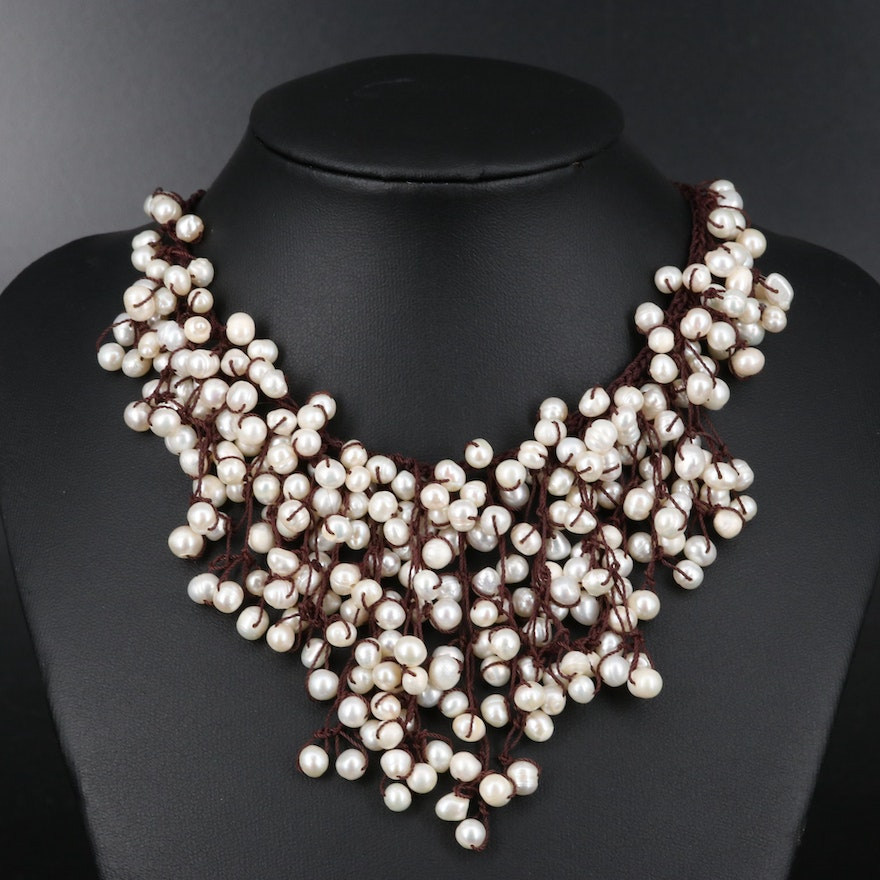 Quartz and Pearl Beaded Necklace