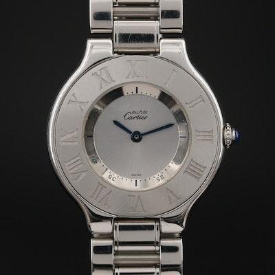 Cartier Must de Cartier 21 Stainless Steel Quartz Wristwatch