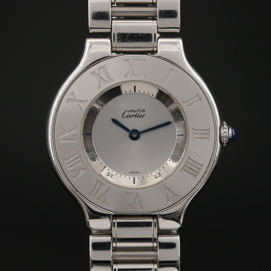 Cartier Must de Cartier 21 Stainless Steel Quartz Wristwatch