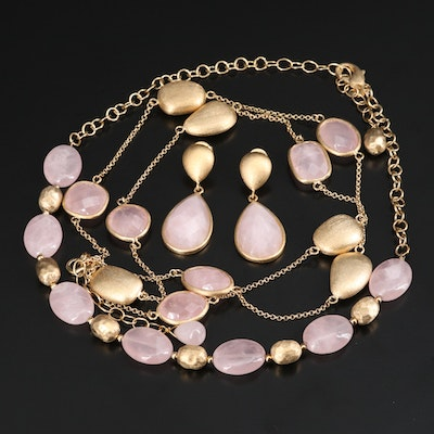 Assorted Rivka Friedman Rose Quartz Jewelry