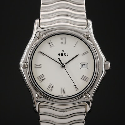 "Ebel ""Sport Classic"" Stainless Steel Quartz Wristwatch"