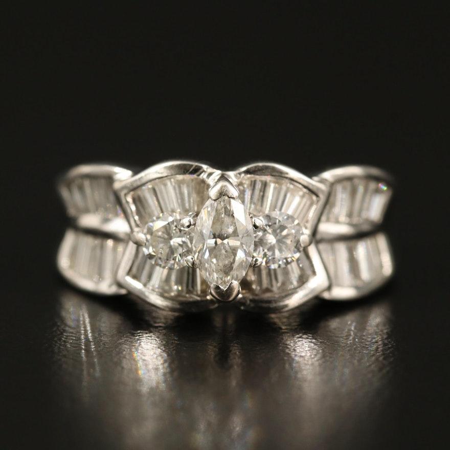 18K 1.95 CTW Diamond Step Ring