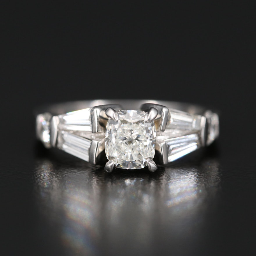 Platinum 1.81 CTW Diamond Ring