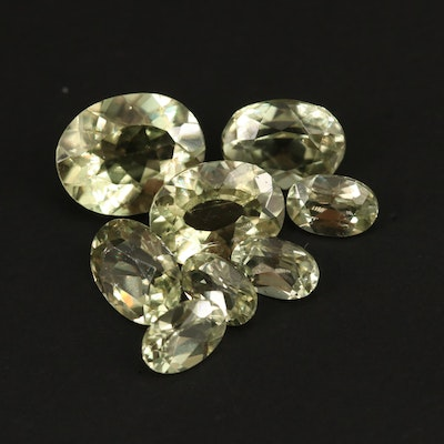 Loose 8.85 CTW Oval Faceted Epidotes