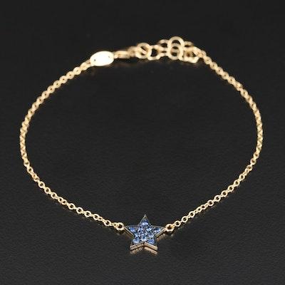 18K Sapphire Star Bracelet
