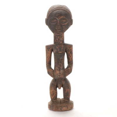 Hemba Carved Wood Ancestor Figure, Democratic Republic of the Congo