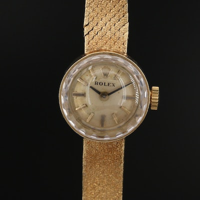 Vintage Rolex 14K Yellow Gold Stem Wind Wristwatch