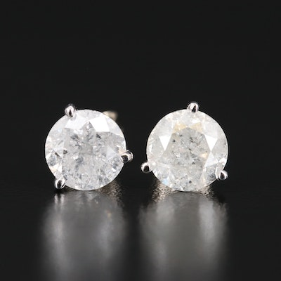 14K 3.61 CTW Diamond Martini Stud Earrings