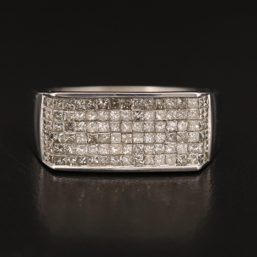 14K 1.53 CTW Diamond Rectangular Band