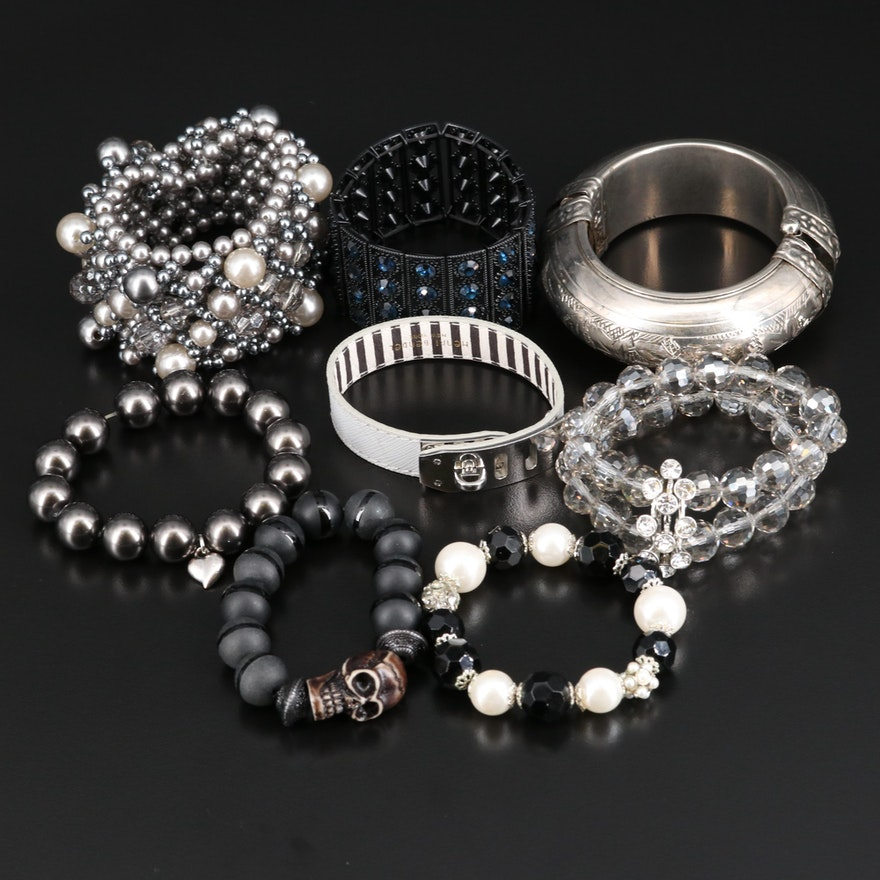 Bangle and Expandable Bracelets Featuring Henri Bendel