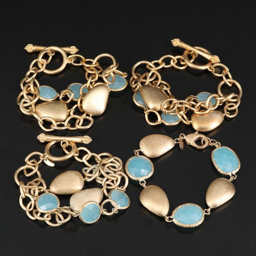 Rivka Friedman Quartz Pebble Bracelets