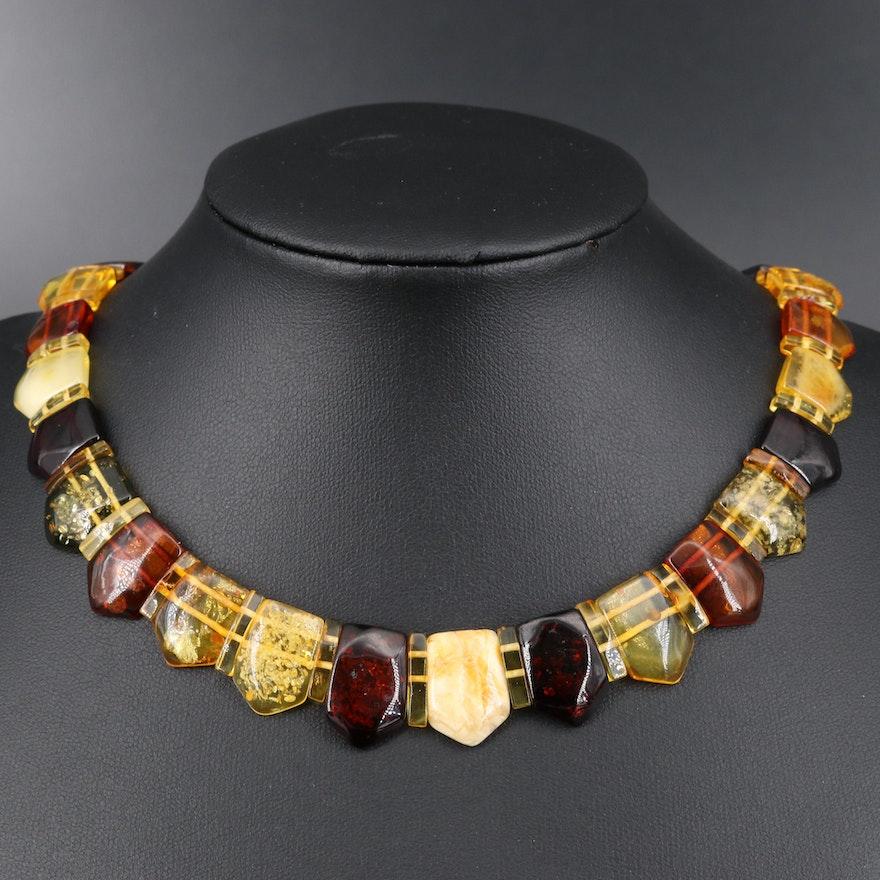 Multicolor Amber Necklace