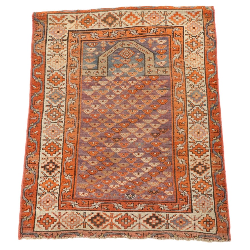 3'1 x 4'6 Hand-Knotted Caucasian Shirvan Prayer Rug, Late 19th/Early 20th C.