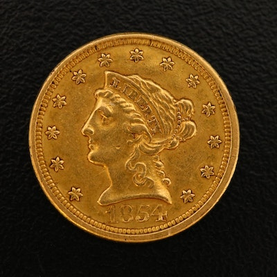 1854-O Liberty $2.50 Gold Quarter Eagle