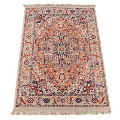 6'0 x 9'8 Machine Made Persian Heriz Style Area Rug