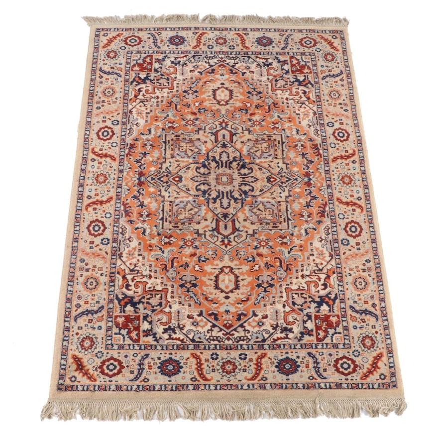 6'0 x 9'8 Machine Made Persian Heriz Style Area Rug