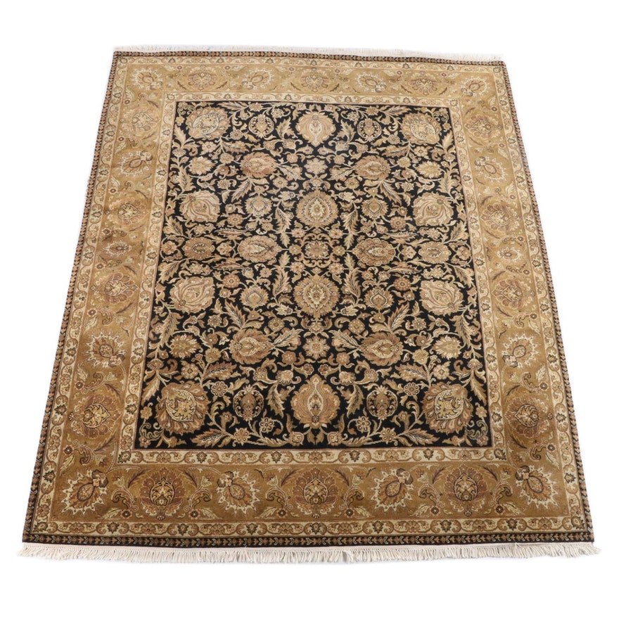 8'1 x 10'7 Hand-Knotted Indian Mahal Wool Area Rug