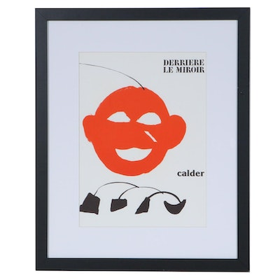 "Alexander Calder Color Lithograph for ""Derrière le Miroir"", 1976"