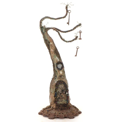 Mixed Media Sculpture of Woodland Faerie Home, 2010