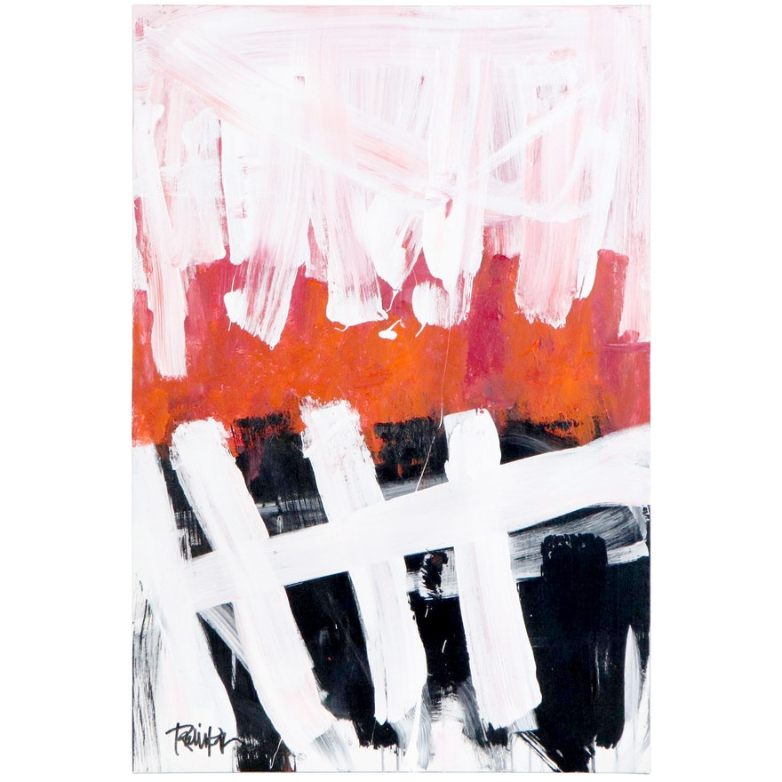 """Robbie Kemper Abstract Acrylic Painting """"Five"""""""