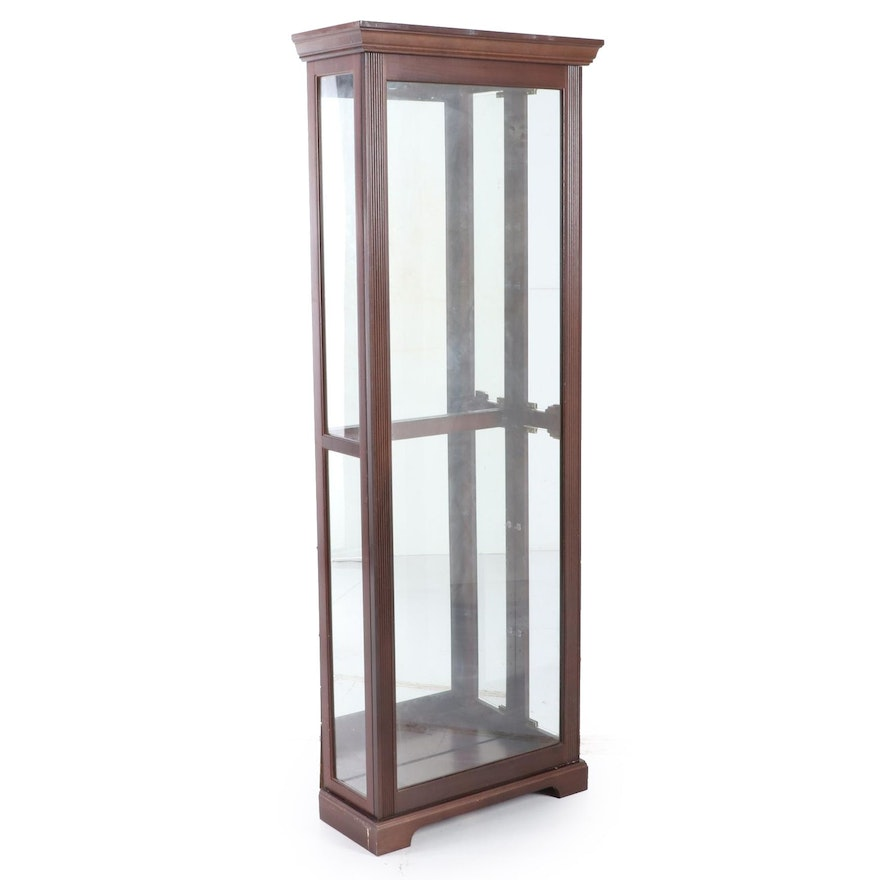 Mahogany-Stained Display Cabinet, Late 20th Century