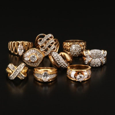 Rhinestone and Cubic Zirconia Ring Collection