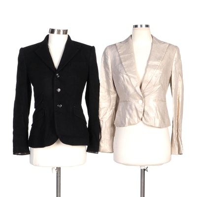 Ralph Lauren Black Label Cashmere Jacket and Lauren Ralph Lauren Linen Jacket