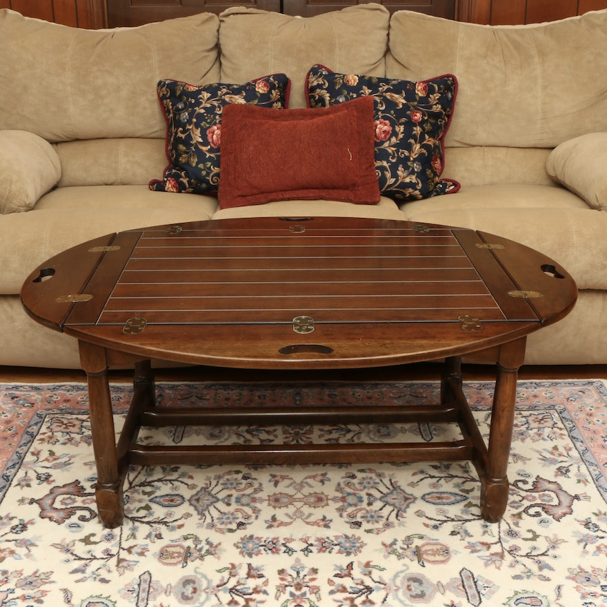 "Hickory Chair Co. ""American Digest"" Cherrywood Butler's Tray Table"