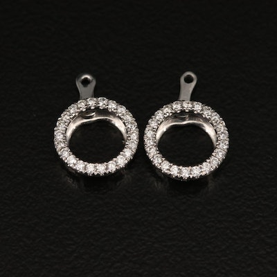 14K Diamond Adjustable Earring Jackets