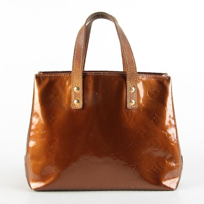 Louis Vuitton Reade PM Tote in Bronze Monogram Vernis and Vachetta Leather