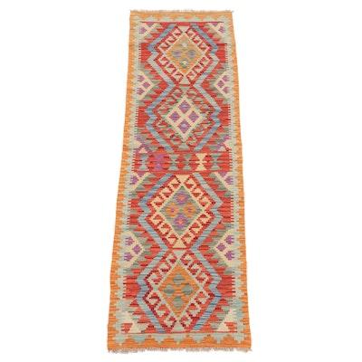 2'1 x 6'8 Handwoven Caucasian Turkish Kilim Carpet Runner, 2010s