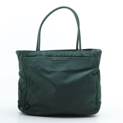 Prada Tessuto Nylon Top Handle Bag in Antracite