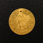 1871-G Half Dollar California Fractional Gold Token