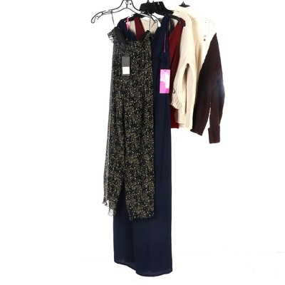 Betsey Johnson and Sam Edelman Jumpsuits with Other Sweaters and Dress