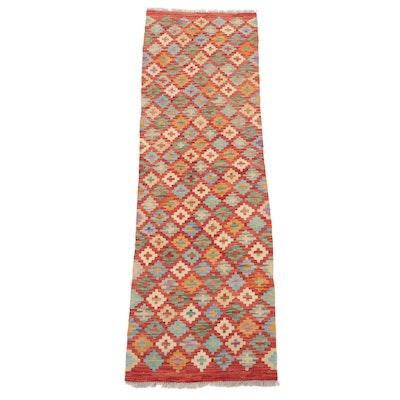 2'0 x 6'7 Handwoven Caucasian Turkish Kilim Carpet Runner, 2010s