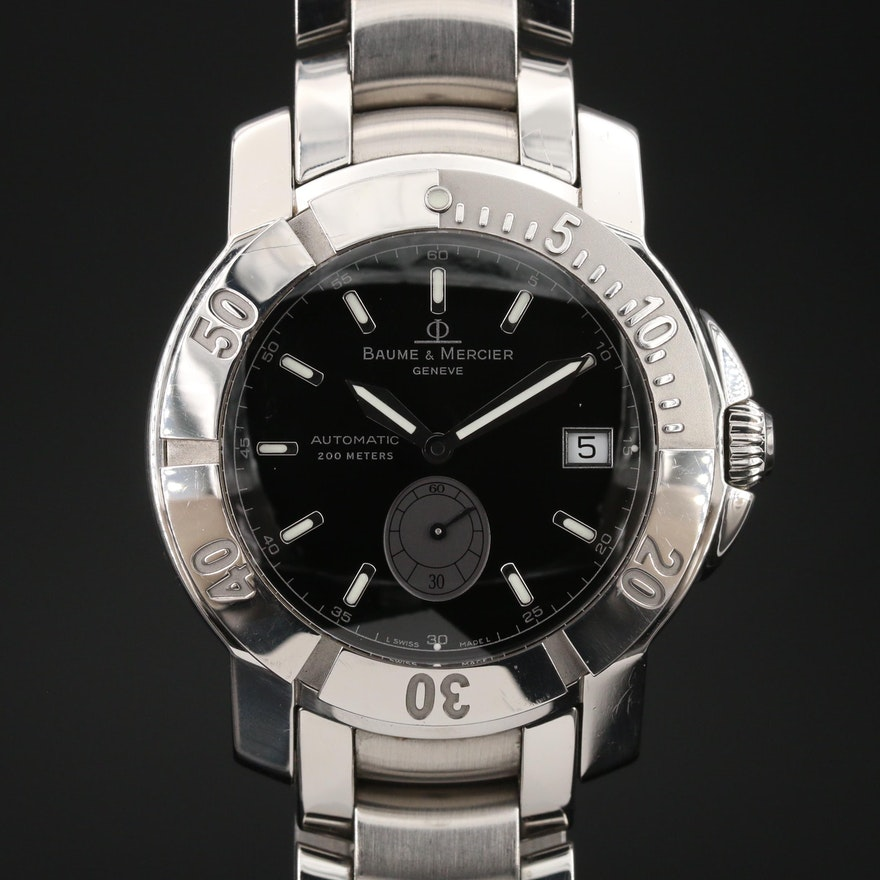 Baume & Mercier Capeland S Diver Stainless Steel Automatic Wristwatch