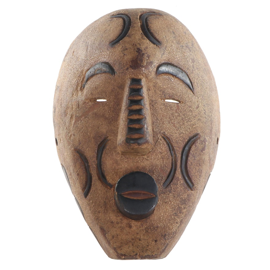 Central African Style Carved Wood Mask
