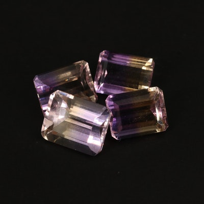 Loose 10.42 CTW Rectangular Faceted Ametrines