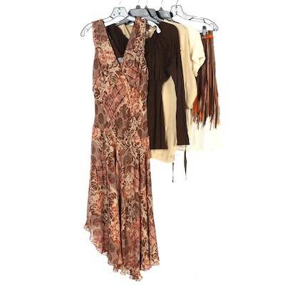 BCBGMaxazria Skirt with Rabbit Designs Maxi Dress and Other Brands Tops