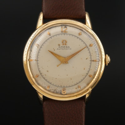 Omega Automatic 14K Gold Filled Wristwatch, Circa Early 1950s