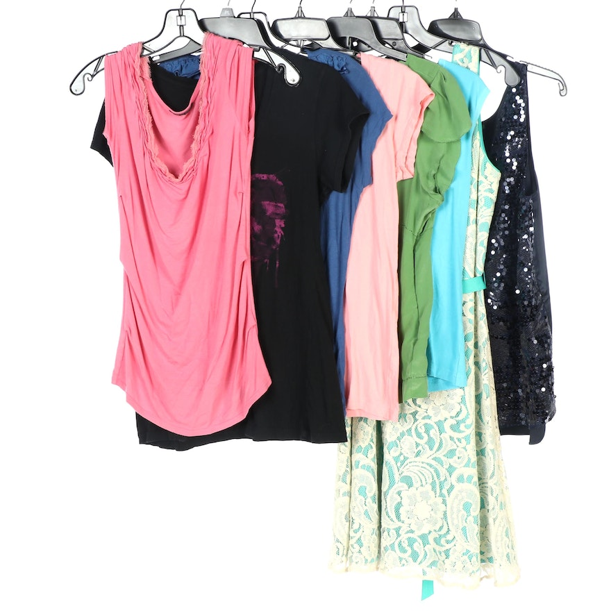 Tahari Sleeveless and Short Sleeve Shirts with Other Brands Dress and Shirts