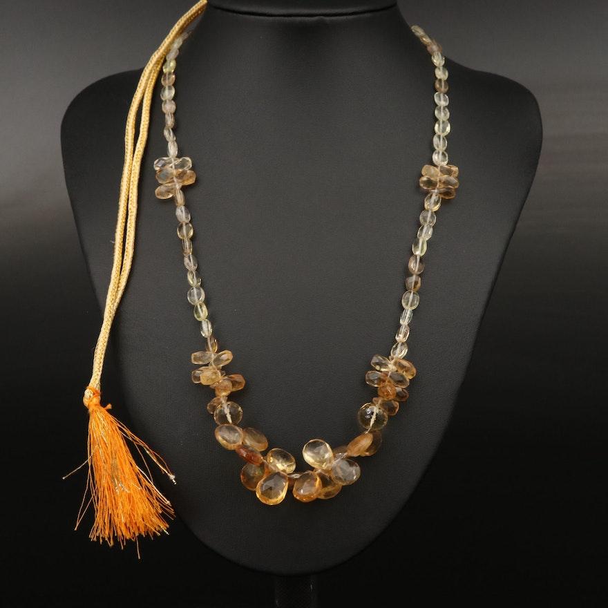 Citrine Beaded Necklace