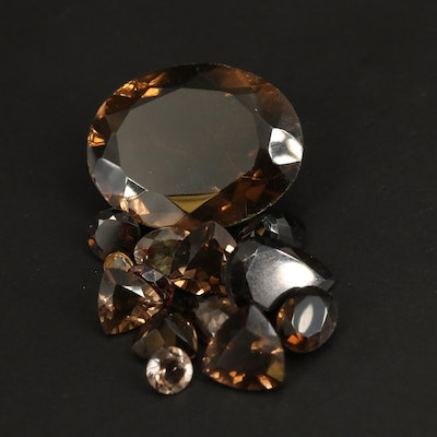Loose 41.94 CTW Faceted Smoky Quartz and Andalusite