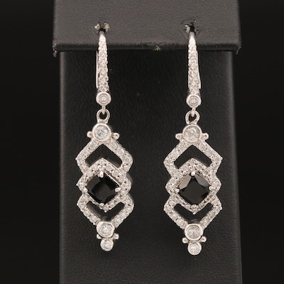 Judith Ripka Sterling Cubic Zirconia Dangle Earrings