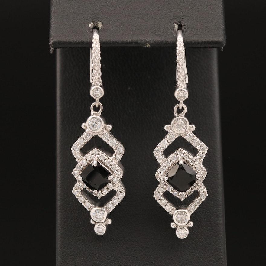 Judith Ripka Sterling Cubic Zirconia Dangle Earrings