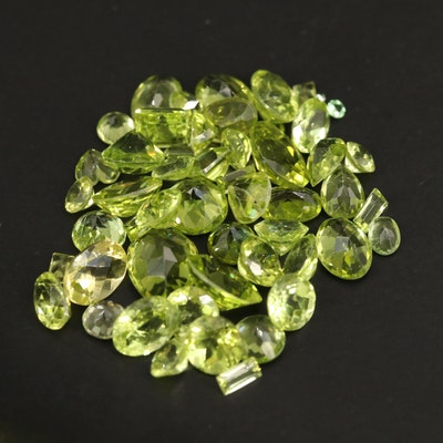 Loose 25.24 CTW Faceted Peridots